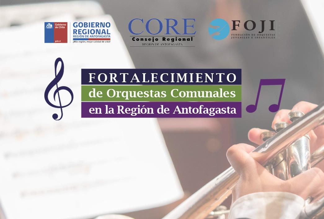 """Curso de Dirección Orquestal """"Fortalecimiento de orquestas comunales Región de Antofagasta"""" FOJI – CORE Antofagasta 2021 – ¡Inscripciones abiertas!"""