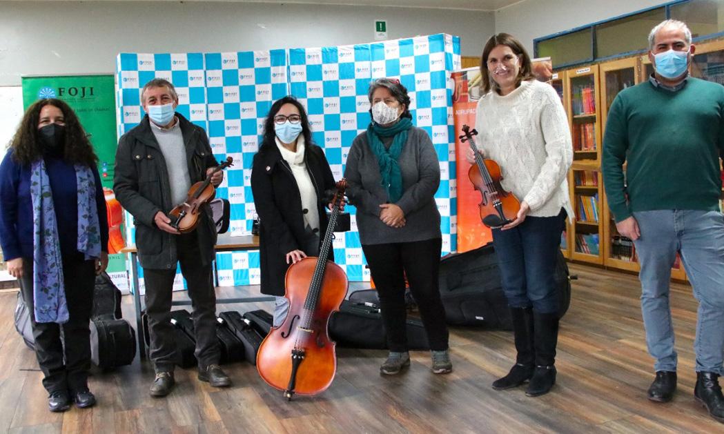 CORE destacó distribución de instrumentos musicales en la región de Aysén
