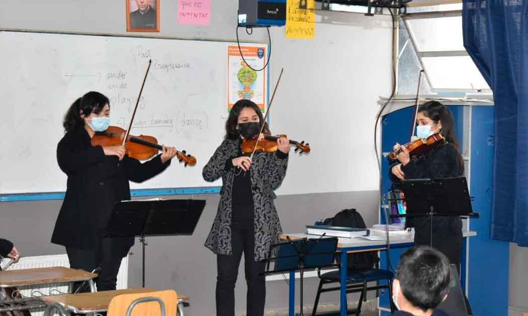 Nuevo proyecto potencia la creación de orquestas en los colegios de Chile