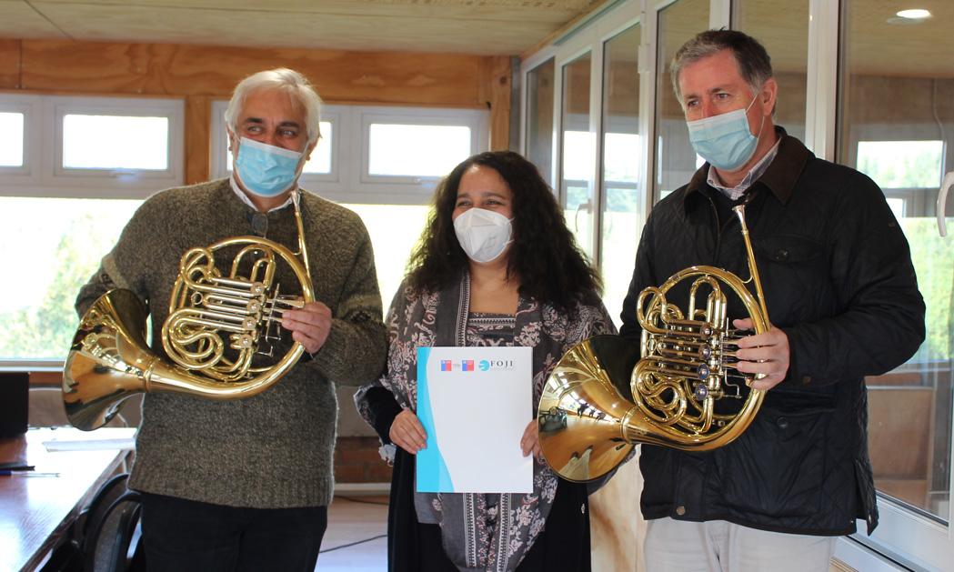 Orquesta CIFAN recibe importante donación de instrumentos